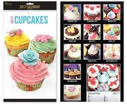 Image Is Loading 2017 Midi Calendar Month To View Cupcakes Design