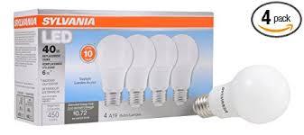 sylvania 40w equivalent led light bulb a19 l 4 pack