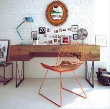 meubles design mobilier design chaise bureau moderne orange metal
