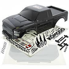 100 Komodo Truck Gmade 110 Rock Crawler BLACK BODY DECALS WINDOW MASK