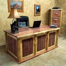 The Red Cedar Log Executive Desk Is Made From Eastern Logs This Will Fit Any Decor Whether At A Rustic Lodge Cabin Country Cottage
