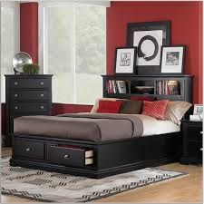 Black Leather Headboard Double by Bedroom Glamous Home Interior Bedroom Design Ideas Showing Red