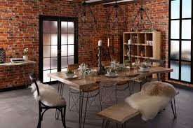 Freddie Live Edge Dining Table Industrial Chic Style Kitchen Uk