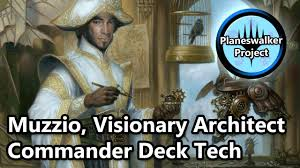 Mtg Mycosynth Golem Deck by Muzzio Visionary Architect Edh Commander Deck Tech For Mtg Youtube