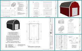 10 X 16 Shed Plans Gambrel by Gambrel Shed Plans Sds Plans