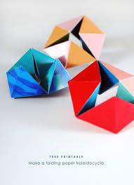 Free Printable Make A Folding Paper Kaleidocycle