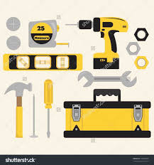 Icons Set Carpentry Woodwork Tools Stock Vector Carpenter Woodworking Clipart