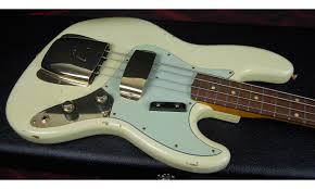 Fender 60 Jazz Bass Relic 2017 Aged Vintage White Finish Gold Hardware Birdseye Neck Matching PegH