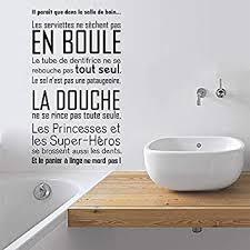 badezimmer vinyl wandaufkleber französisches zitat