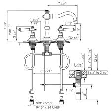 Bathtub Drain Assembly Diagram by Widespread Lavatory Faucet With Pop Up Drain Assembly Revere