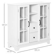 homcom küchenschrank sideboard aufbewahrungsschrank modern