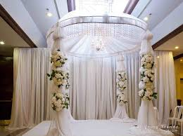 Outdoor Wedding Stage Decoration Elegant At Kempinski Hotel Jakarta We Built This For A Friendus Karaoke