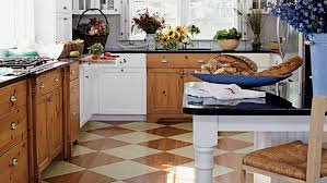 This Pleasant Kitchen Has Painted Floors In A Checkerboard Pattern To Add Some Interest Under Your