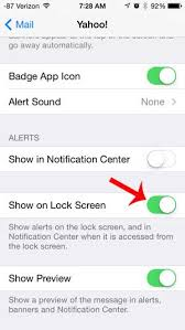 How to Show Yahoo Alerts on the Lock Screen on the iPhone 5