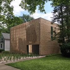100 Brick Walls In Homes Brooks Scarpa Hides Illinois Home Behind Brick Screen
