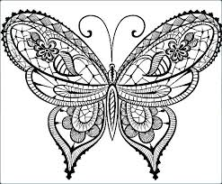 Monarch Butterfly Coloring Page Simple Pages Color Free Mona