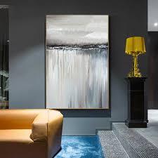 abstrakte minimalistischen wand kunst grau leinwand malerei kunst wand bilder für wohnzimmer wohnkultur poster und drucke nordic stil