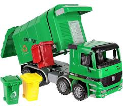 100 Rubbish Truck Waste Toy Green Kids Garbage Recycle Vehicle Trash Can