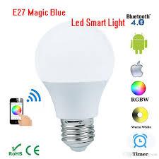 wholesale e27 rgbw magic blue 4 5w led bulb bluetooth 4 0 smart