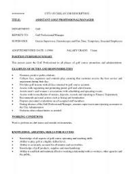 Resume Bunch Ideas Of Golf Professional Example College Template On
