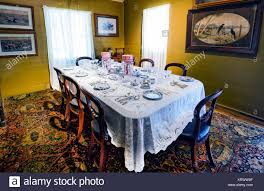 Old Fashioned Dining Room Displayed At Herberton Historic Village Queensland QLD Australia
