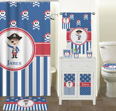 Blue Pirate Shower Curtain Personalized