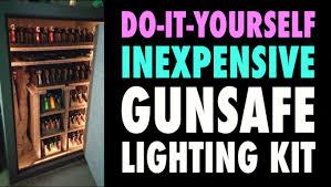 diy cheap gunsafe lighting
