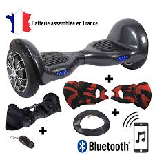 chambre a air 10 pouces pack hoverboard 10 pouces bluetooth coque silicone sac