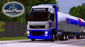 100 World Truck Simulator Driving Volvo FH 6x2 Puxando Vaso De Presso