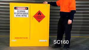 Flammable Liquid Storage Cabinet Location by Safe T Store Flammable Liquid Storage Cabinet Sc160 Youtube