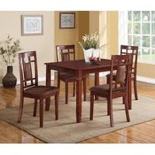 Acme United Sonata Casual Dining Set Cherry Finish Modern 5pc Room Furniture Table Chairs Chocolate