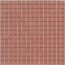 lyric unglazed porcelain rectified edge mosaic tile in cinnamon