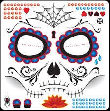 Easy Sugar Skull Day Of by Wholesale Sugar Skull Full Face Tempoary Tattoos