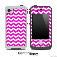 Hot Pink Chevron Pattern Skin for the iPhone 5 or 4 4s LifeProof