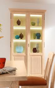 glas vitrine stand vitrine wohnzimmer casapino 2 türig aus glas mit holzfüllung pinie massiv
