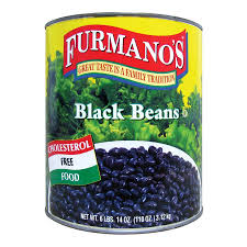 Furmanos Fancy Black Beans In Brine 10 Can