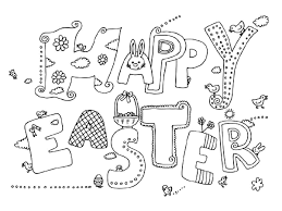 Easter Printable Coloring Pages Eggs