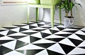Black Linoleum Flooring And White Checkered For Sale Traditional