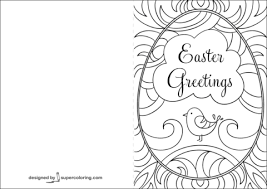 Click To See Printable Version Of Easter Greetings Doodle Card Coloring Page