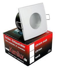 dimmbare 5w power leds gu10 ip65 bad strahler einbaulspots aqua square 230v