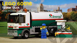 100 Lego City Tanker Truck LEGO 60016 Stop Motion Build YouTube