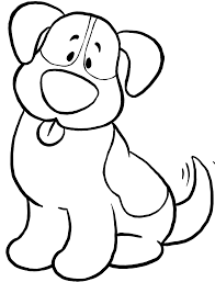 Cute Dog Coloring Pages For