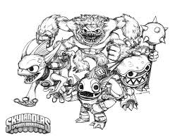 Skylanders Coloring Pages For Boys