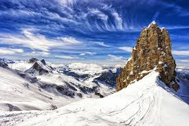 Download Mountains And Cliff With Snowski AreaTitlis Mountainswitzerland Stock Photo