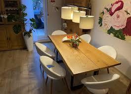 lederstühle crem weiß 6 st wohnzimmer esszimmer armlehne stuhl