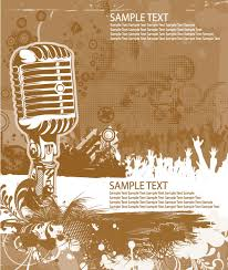 Music Mike Stylish Vector Background 05