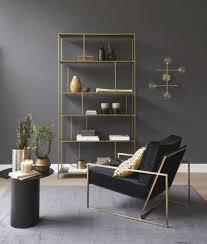regal aus goldfarbenem metall maisons du monde