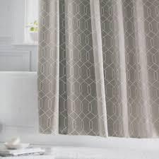 threshold grey diamond gray white fabric shower curtain target