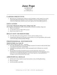 Finance Objective Resume Objectives For Entry Level Resumes Accounting With Career