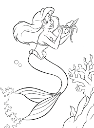 Coloring Pages Princess Barbie Mermaid Colouring To Print Disney Little Free Full Size